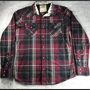 Vans Plaid Flannel Shirt Red